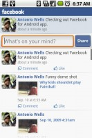 Facebook for Android My Wall