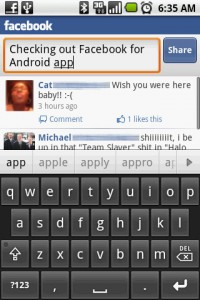 Facebook for Android Typing Status