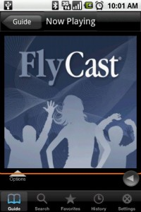 FlyCast Playing Radio Station