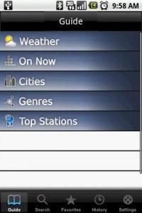 FlyCast Start Screen