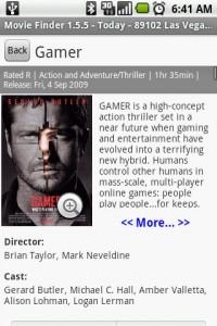 Movie Finder Movie Details