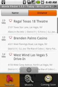 Movie Finder Theatres