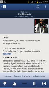 Pandora Artist Details