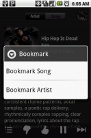 Pandora Internet Radio Bookmarking Features