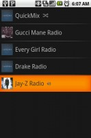 Pandora Internet Radio List of Searches