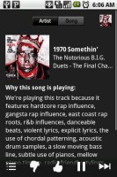 Pandora Internet Radio Song Info