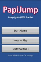 PapiJump Start Screen