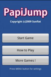 PapiJump Start Screen