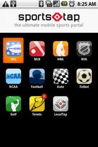 SportsTap List of Sports