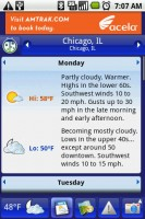 Weather Bug Weather Details by Day