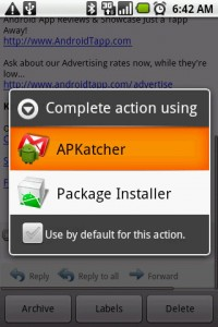 APKatcher Option