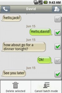 Handcent SMS Batch Mode Conversation