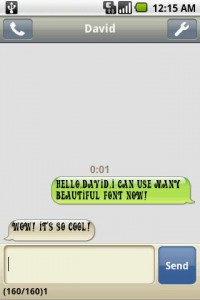 Handcent SMS Font Pack 1