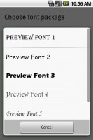 Handcent SMS Font Pack 3