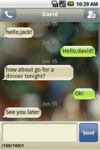 Handcent SMS Overview Conversation