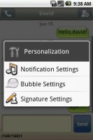 Handcent SMS Personalization Settings 2