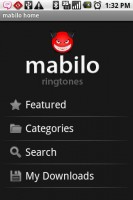 Mabilo Ringtones Home Screen