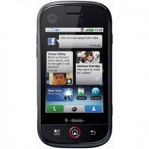 Motorola Cliq - Front View