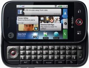Motorola Cliq - Front Keyboard Open