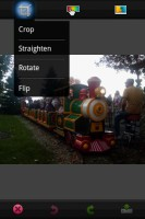 PhotoShop Mobile Crop Photo Options