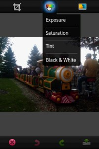 PhotoShop Mobile Edit Photo Options