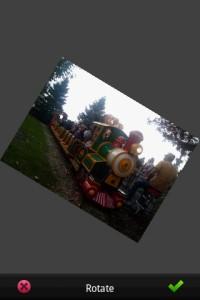 PhotoShop Mobile Rotate Editing