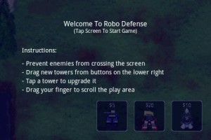 Robo Defense How to Play Instructions