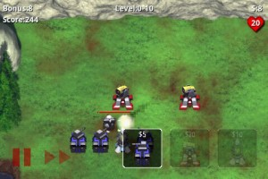 Robo Defense in Game Play 4
