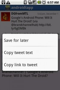 Swift App for Twitter Tweet Options