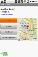 WhitePages Caller Detail with Google Maps