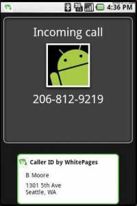 WhitePages Caller ID During Call