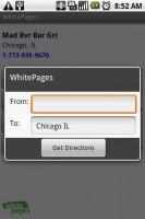 WhitePages Get Directions for Contact with Google Maps