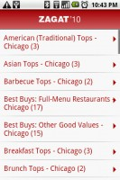 Zagat To Go Top Options