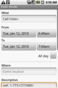 Choice Dialer Scheduling Events Calendar