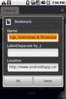 Dolphin Browser Add Bookmarks