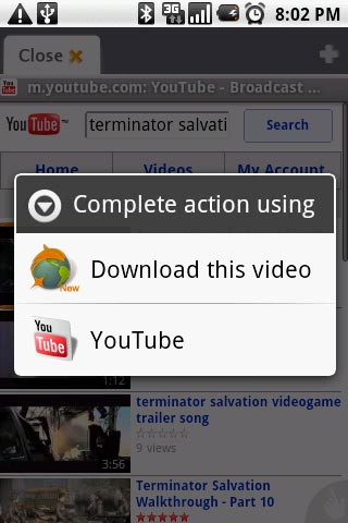 Google to Dolphin Browser: Remove YouTube Downloader Feature