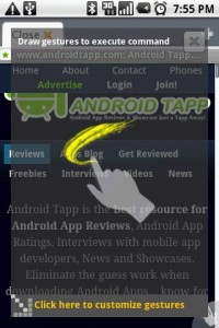 Dolphin Browser Gestures