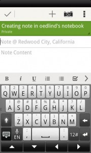 Evernote Create Note