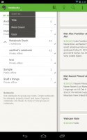 Evernote on Tablet