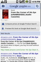Google Goggles another Book Identified