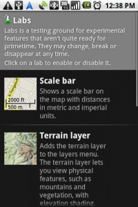 Google Maps Navigation Labs Experimental Features