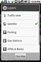 Google Maps Navigation Layers Options