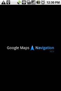 Google Maps Navigation Splash Screen