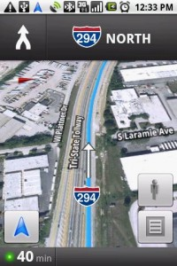 Google Maps Navigation in Route Augmented Reality Satellite View