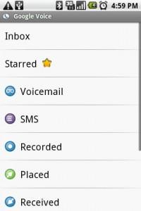 Google Voice Labels