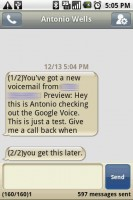 Google Voice SMS Notifications with Transcription