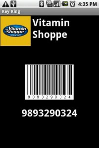 Key Ring Store Barcode and Logo