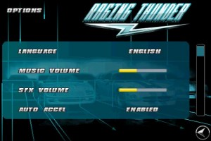 Raging Thunder Game Options
