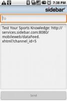 Sidebar Share via SMS Text