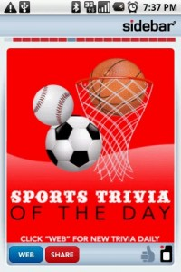 Sidebar Sports Trivia